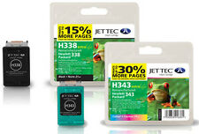 Remanufactured HP338/HP343 Black/Colour Ink Cartridges for Photosmart 7800 &more