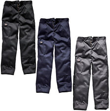 DICKIES WD884 REDHAWK SUPER BUTTON POCKET WORK TROUSERS BLACK GREY NAVY