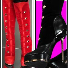 35-41█▓wOw HOT MEGA SEXY HIGH HEEL STILETTO BUTTON 14,5cm PLATEAU STIEFEL█▓35-41