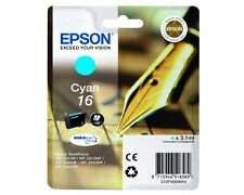 Genuine Epson T1632 / 16XL Cyan Printer Ink Cartridge C13T16324010