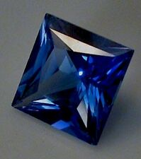 Square Faceted Bright Blue Lab Created Sapphire (2x2mm-12x12mm)