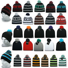 ETHOS BEANIE MÜTZE FLAP LONG SLOUCH NEW YORK  WINTER MÜTZE BOMMEL CAP JERSEY
