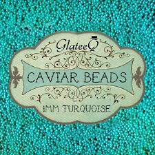 GlateeQ 20g Turquoise 1mm Caviar Beads - Craft, Nail Art & Ciate Style Manicure