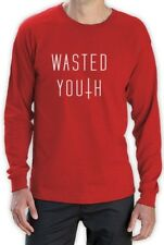 wasted youth Cross Long Sleeve T-Shirt Hipster Geek Top Swag Indie Shop Dope