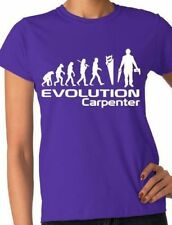 Evolution Of A Carpenter Ladies T-Shirt Gift  Size S-XXL