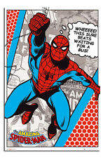 Marvel Classic Spider-man This Sure Beats Waiting For A Bus Poster New