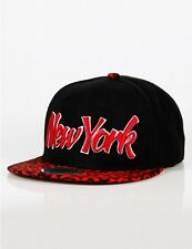 New York NY Cityhunter Ethos City Snapback Leopard Hip Hop Cap era Leo blk red