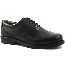 MENS SCIMITAR LEATHER OFFICE SHOES SIZE UK 6 - 14 CAPPED OXFORD BLACK M902A KD