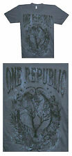 """ONE REPUBLIC DREAMING OUT LOUD 2008 """"TOUR TREE"""" DESIGN GREY T-SHIRT NEW ALL SZ"""