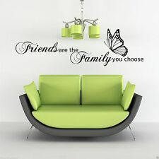 Family Love Friends Butterfly Wall Art Sticker Quote Decal Stencil Transfer