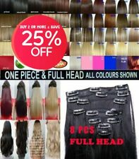 Hair Extensions streak highlight Clip in Hair Full Head & One Piece Synthetic uk