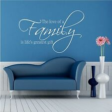 Family Love Life Wall Art Sticker Quote Decal Mural Stencil Transfer Graphic