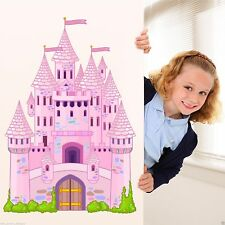 Full Colour Fairy Tale Castle Wall Art Sticker Decal Mural Transfer Girl Bedroom