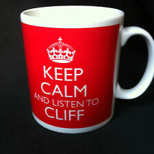 KEEP CALM AND LISTEN TO CLIFF RICHARDS GIFT MUG CARRY ON COOL BRITANNIA RETRO