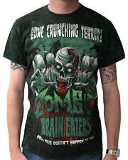 Darkside Clothing Zombie Brain Eaters Vintage Style Horror Black Unisex Tshirt