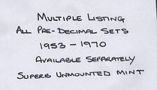 MULTIPLE LISTING. 1953-1970. All pre-decimal sets. Superb unmounted mint.