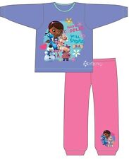 Girls Disney Doc Mcstuffins Snuggle Fit Cotton Pyjamas Ages 1-4 Years  Gift