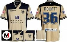 *13 / 14 - MACRON ; LEEDS UTD AWAY SHIRT SS + ARM PATCHES / MOWATT 36 = SIZE*
