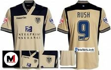 *13 / 14 - MACRON ; LEEDS UTD AWAY SHIRT SS + ARM PATCHES / RUSH 9 = SIZE*