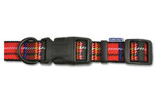Ancol Red Tartan Adjustable Dog Collars and lead (sold separately)