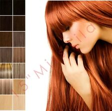 """15"""" Clip In Remy Human Hair Extensions Half Head"""