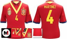 *13 / 14 - ADIDAS ; SPAIN HOME SHIRT SS / MARTINEZ 4 = SIZE*