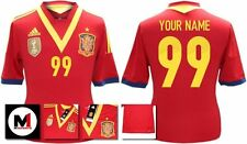 *13 / 14 - ADIDAS ; SPAIN HOME SHIRT SS / PERSONALISED = SIZE*