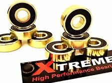 *GENUINE ABEC 9 GOLD XTREME HIGH PERFORMANCE BEARINGS SKATEBOARD SCOOTER QUAD