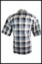 New Mens Clearance 100% Cotton Blue, Green Checkered Button Up Casual Shirt