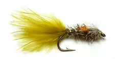 3x, 6x or 12x Fly Fishing Trout Flies (TM6) OLIVE McKAYE Buzzer Trout Fly