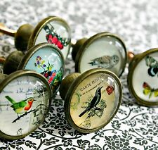 Vintage Style Bird Butterfly Owl Drawer Knobs Cupboard Door Handles Pull Pulls