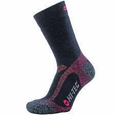 LADIES HI-TEC MERINO WOOL SOCKS SIZES UK 3 - 8 MOISTURE WICKING MID WEIGHT NAVY