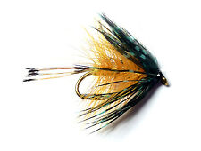 3x, 6x or 12x Fly Fishing Trout Flies (SBBF7) GOLDEN BUMBLE Bushy Bob Trout Fly