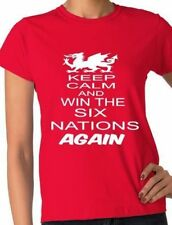 Rugby Wales Welsh Win 6 Nations Again World Cup Ladies T-Shirt Size S-XXL