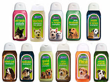 2 BOTTLES OF Johnsons Dog shampoo range. 200 ml bottles save £2.00