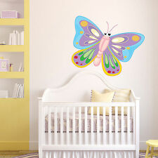 GIANT BUTTERFLY BUG Full Colour Wall Sticker Decal Transfer Mural Girls Bedroom
