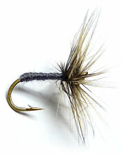 3x, 6x or 12x Fly Fishing Trout Flies (DF25)  GREY DUSTER  Dry Trout Fly