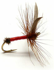 3x, 6x or 12x Fly Fishing Trout Flies (DF49)  RED ANT  Dry Trout Fly