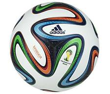 *2014 - ADIDAS BRAZUCA OFFICIAL FIFA WORLD CUP MATCH BALL / WHITE = SIZE: 5*