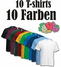 Kinder t-shirt,10erPack,Uni,Fruit of the Loom,t-shirt,