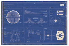 Star Wars Imperial Fleet Blueprint Maxi Wall Poster New - Laminated Available