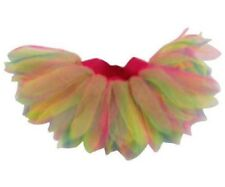 Rainbow Multi colour 6 Layer Tutu Skirt I LOVE 80S Fancy Dress HEN PARTY BOOK WE