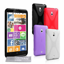 Yousave Accessories Nokia Lumia 1320 Soft Silicone Gel X-Line Case Cover & Film