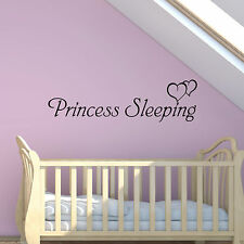 Princess Sleeping Girls Nursery Bedroom Wall Art Sticker Decal Mural Transfer