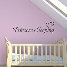 Princess Sleeping Wall Art Sticker Girls Bedroom Kids Quote Decal Mural Transfer