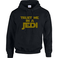 NEW TRUST ME IM A JEDI MENS FUNNY HOODIE, STAR WARS, T SHIRTS ALSO AVALIABLE