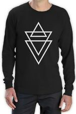 HIPSTER TRIANGLE PRINT Long Sleeve T-Shirt TUMBLER FASHION RELIGION SWAG WASTED