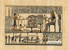 """Egyptian Papyrus Painting - Queen Nefertary 8X12"""" + Hand Painted #83"""