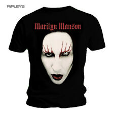 Official T Shirt MARILYN MANSON Face Flames RED LIPS Logo All Sizes