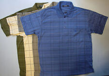 Adults Mens Short Sleeve Check Checked Polo Top Tshirt T Shirt Tee Shirts Button